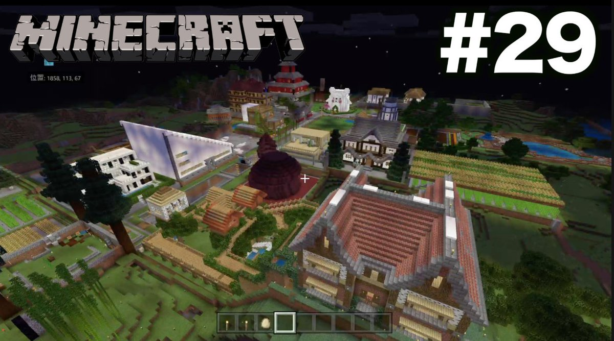 やりますー!【マインクラフト】#29 管理棟完成!海底神殿攻略と全自動サトウキビ収穫機作り  ※初心者です オーメンズキングダム 【PS4 Minecraft】▶