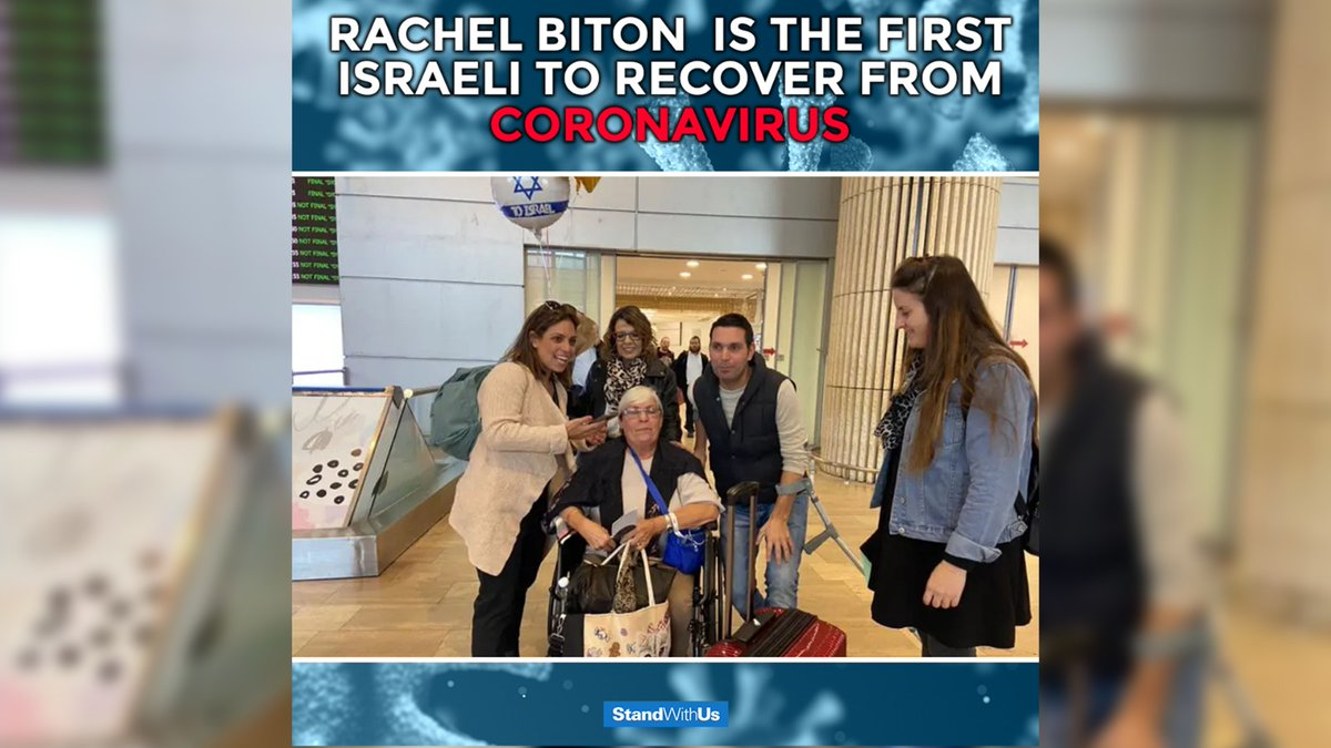 Rachel Biton, who contracted #coronavirus on a quarantined Japanese cruise ship, has returned home to #Israel after making a full recovery!  Welcome home Rachel!<br>http://pic.twitter.com/nae0FOCHIW