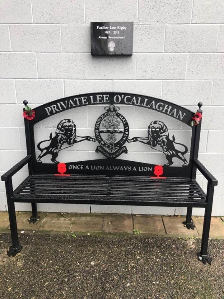 Millwall will officially unveil the Lee Rigby memorial plaque ahead of their match with Bristol City on Saturday. The plaque is situated above the bench of Private Lee O'Callaghan, who sadly lost his life serving in Iraq back in 2004.   Brilliant by Millwall FC!  <br>http://pic.twitter.com/WABdfSyBlO