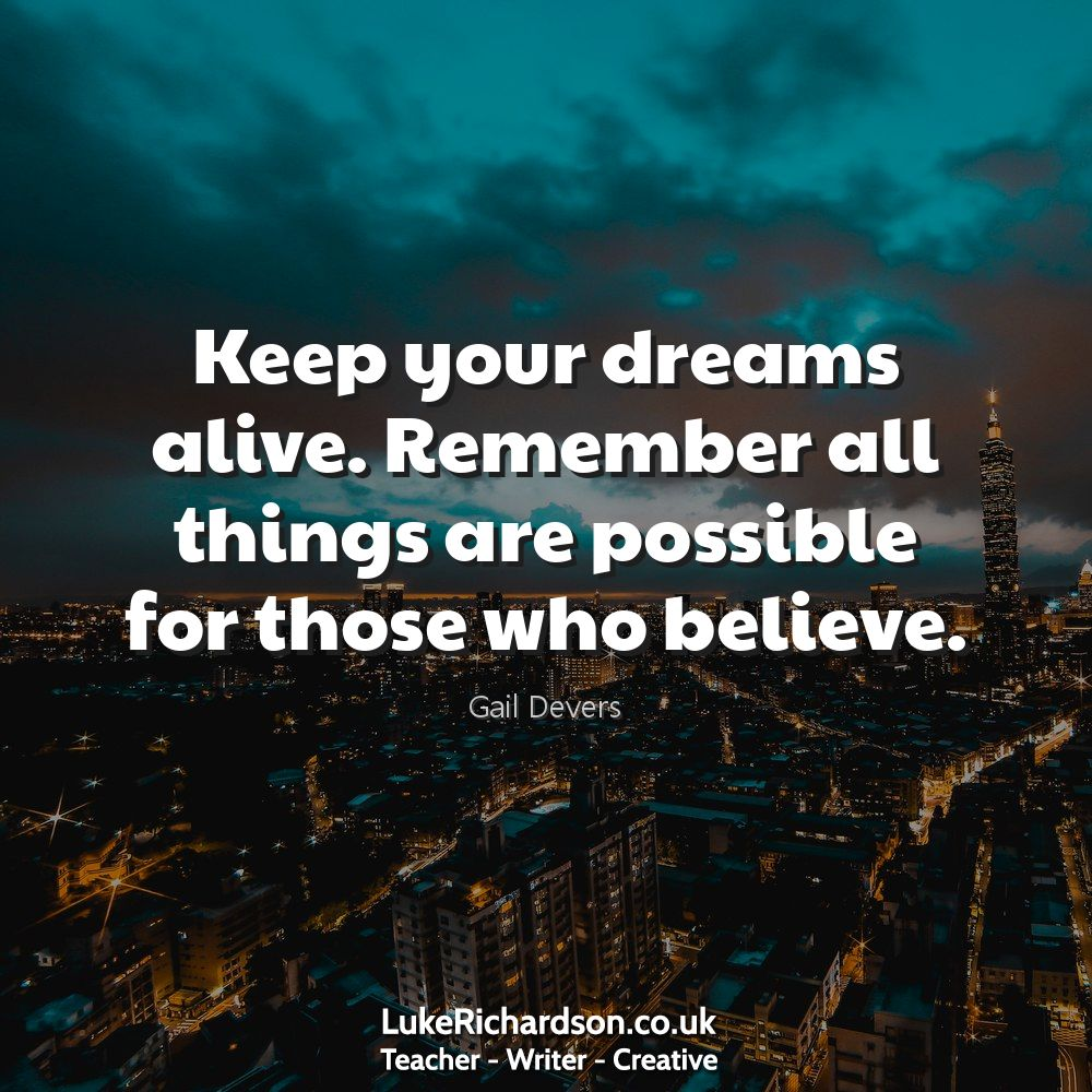 Keep your #dreams alive. Remember all things are possible for those who #believe. #quote #travel #motivation #inspiration #happiness #relax #goodtimes #creativity