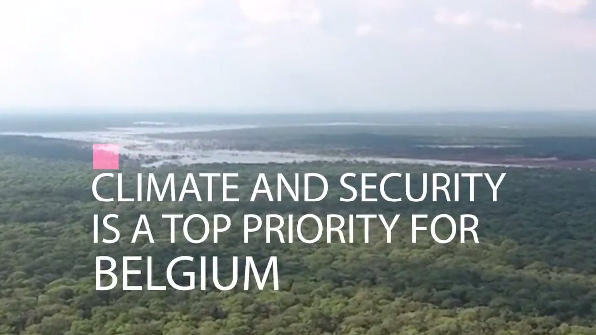 🌍 I was interviewed about Planetary Security risks; a top priority for @BelgiumMFA in the @UN Security Council. Thank you, Belgium, for mainstreaming the climate-security nexus in the Council's work. ➡️ please Retweet #Environment #climatechange #UN
