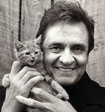 Happy Birthday Johnny Cash, Man In Black. Johnny Cash gave us one of the cutest kitten pictures ever. So adorable.  #JohnnyCash #WednesdayWisdom <br>http://pic.twitter.com/Esuhv8X3qC