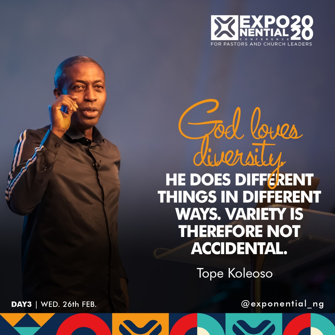 """What a strong message that was by Pastor Tope Koleoso @TopeKoleoso 
