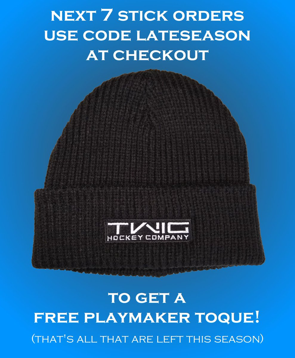 End of season deal! Deal ends when they're all claimed. Don't miss out. . . #GrabYourTwig #hockeystick #hat #toque #hockey #icehockey #hockeyplayer #hockeymom #hockeydad #free #deal #hockeyboy #hockeygirl #hockeylife #ferda #odr #pondhockey #lookgood #feelgood #beerleaguehockeypic.twitter.com/7zy0cSa9aL