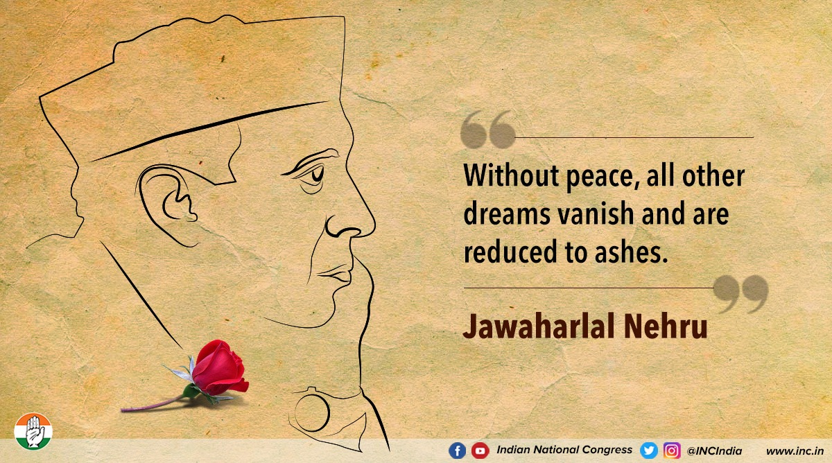 We must always strive to maintain & achieve peace and all our other dreams will follow.   #CongressKeVichaar <br>http://pic.twitter.com/tEPJXnfCTc