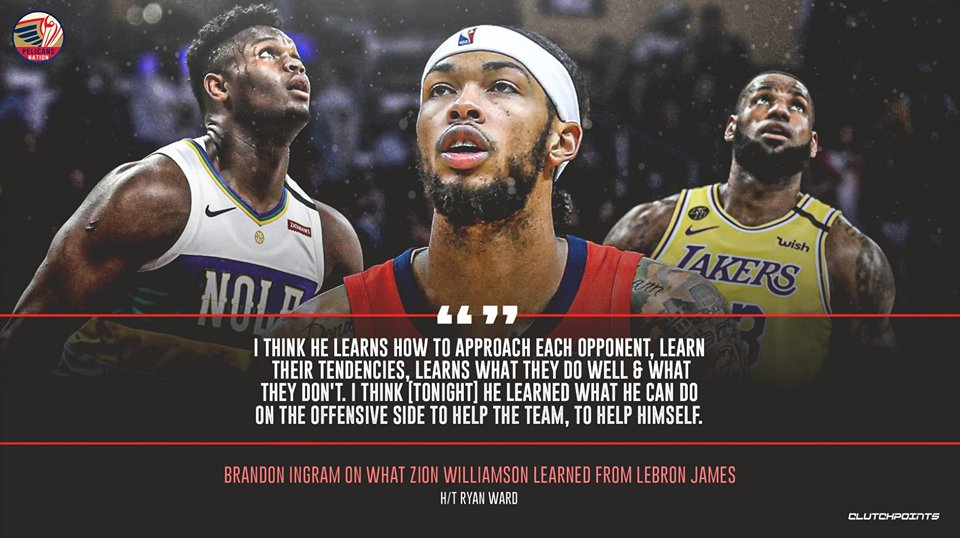 Zion vs. LeBron, Round 1 was all about learning for the Pelicans rookie.   #WontBowDown