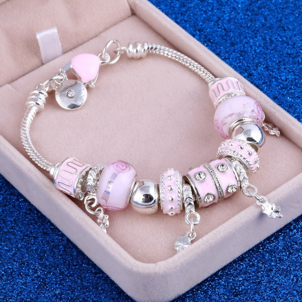 #beauty #stylish Pink Pearl Bracelet