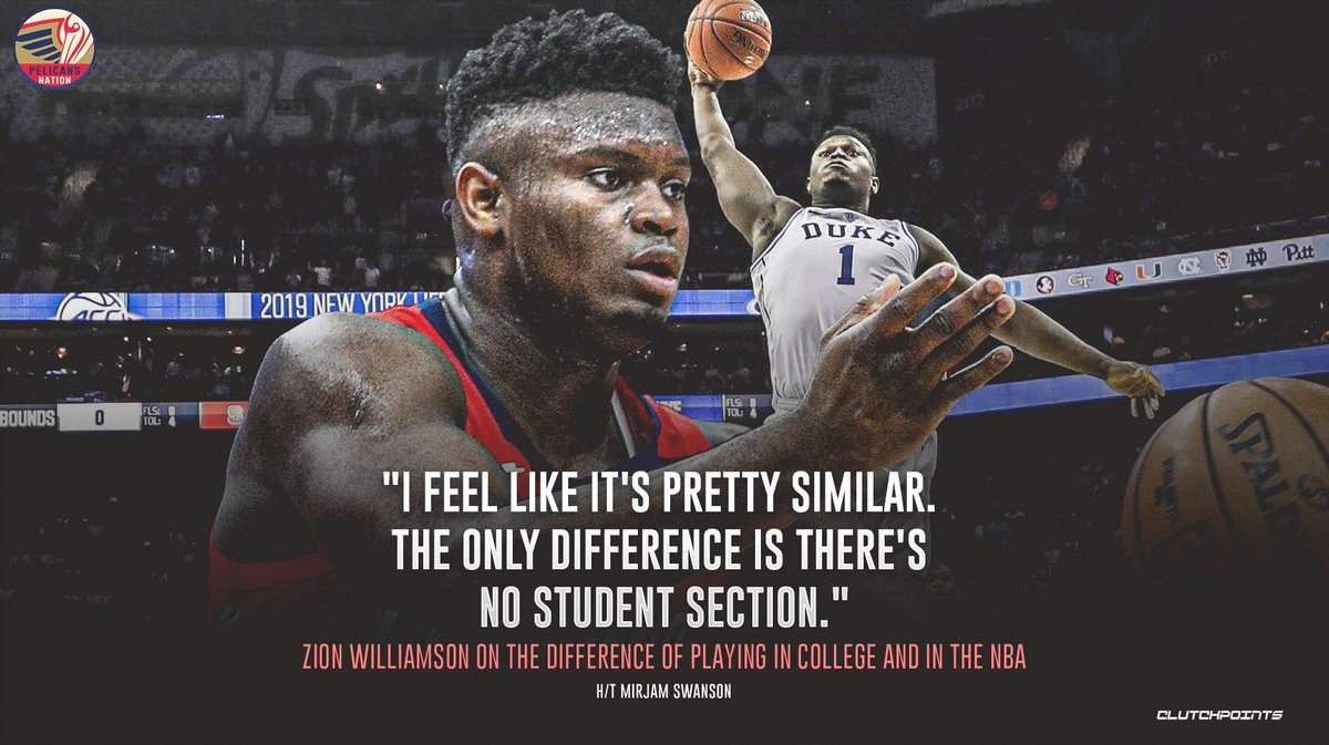 Zion Williamson has a very interesting take. 👀😳  #WontBowDown #Pelicans