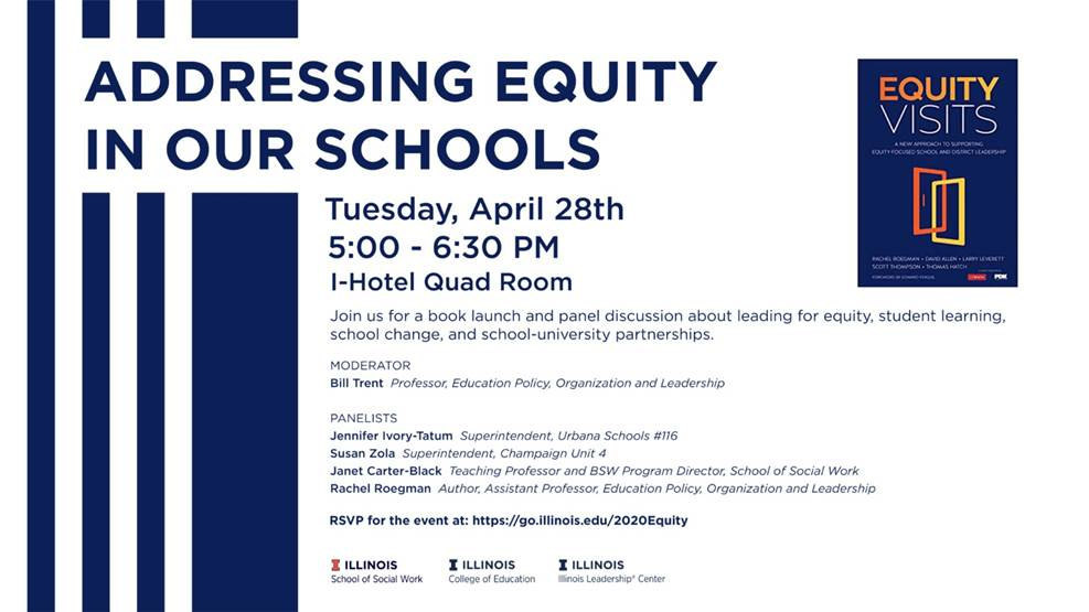 #ILLINOISsocialwork's Dr. Janet Carter Black will be a panelist at this event! RSVP at go.illinois.edu/2020Equity