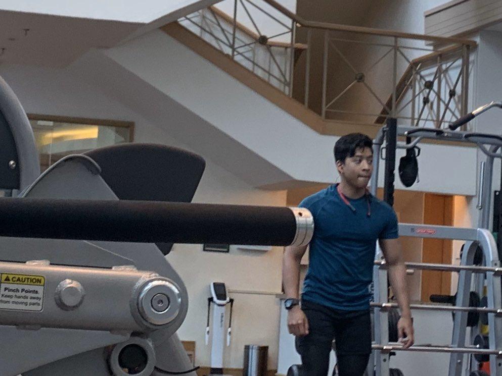Moreno version ni Alden #hotmalaysian #gym #instructor