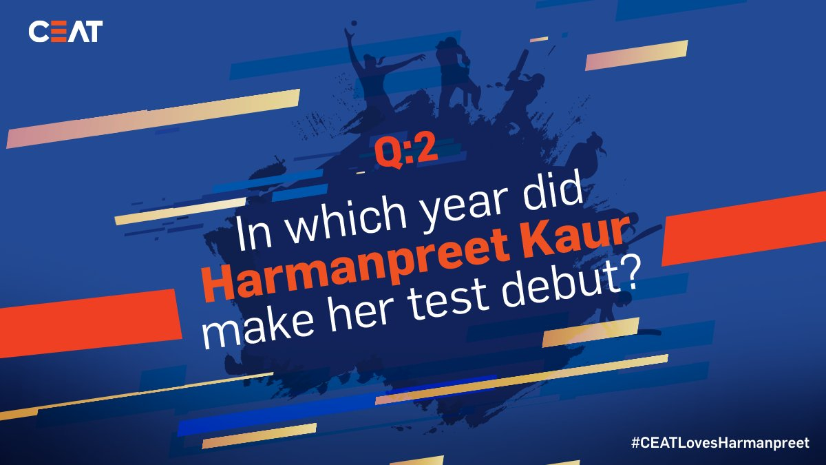 QUESTION 2️⃣ ALERT!⚠️ Answer this second question correctly and stand a chance to win an autographed bat from @ImHarmanpreet! #RT and get started. #CEATLovesHarmanpreet 💙 #ContestAlert