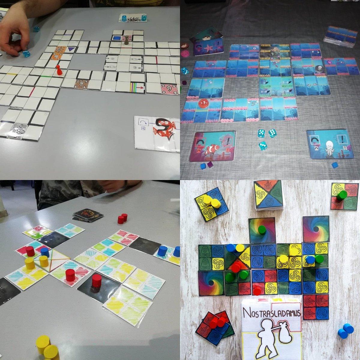 Así evolucionan los #prototipos Hoy estaremos en @GenXAlcala Alcalá desde las 17h #bajoelmar de TurdocJuegos y #nostrasladamus de Geengames Fer Olid Serán puestos a prueba #juegosdemesa #prototipos #miercolesdeprotos