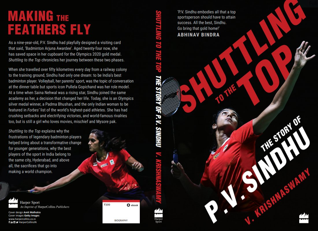 In press now!! Coming very soon, a book that shows what really goes into making a world champion! #ShuttlingToTheTop #PVSindhu @HarperCollinsINpic.twitter.com/UnZJPsy7Ak