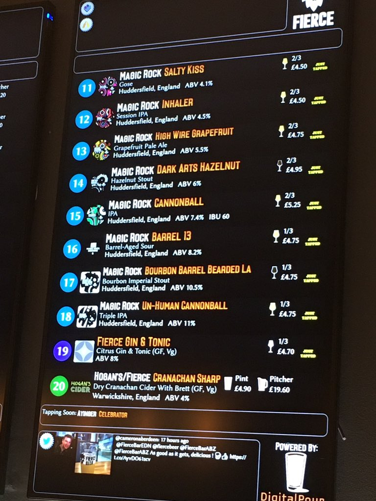 Image for OMG.... what a board @FierceBarABZ if @MagicRockBrewCo awesomeness!!  Come get it and meet @MagicRockStu too! https://t.co/qoImsY53PM