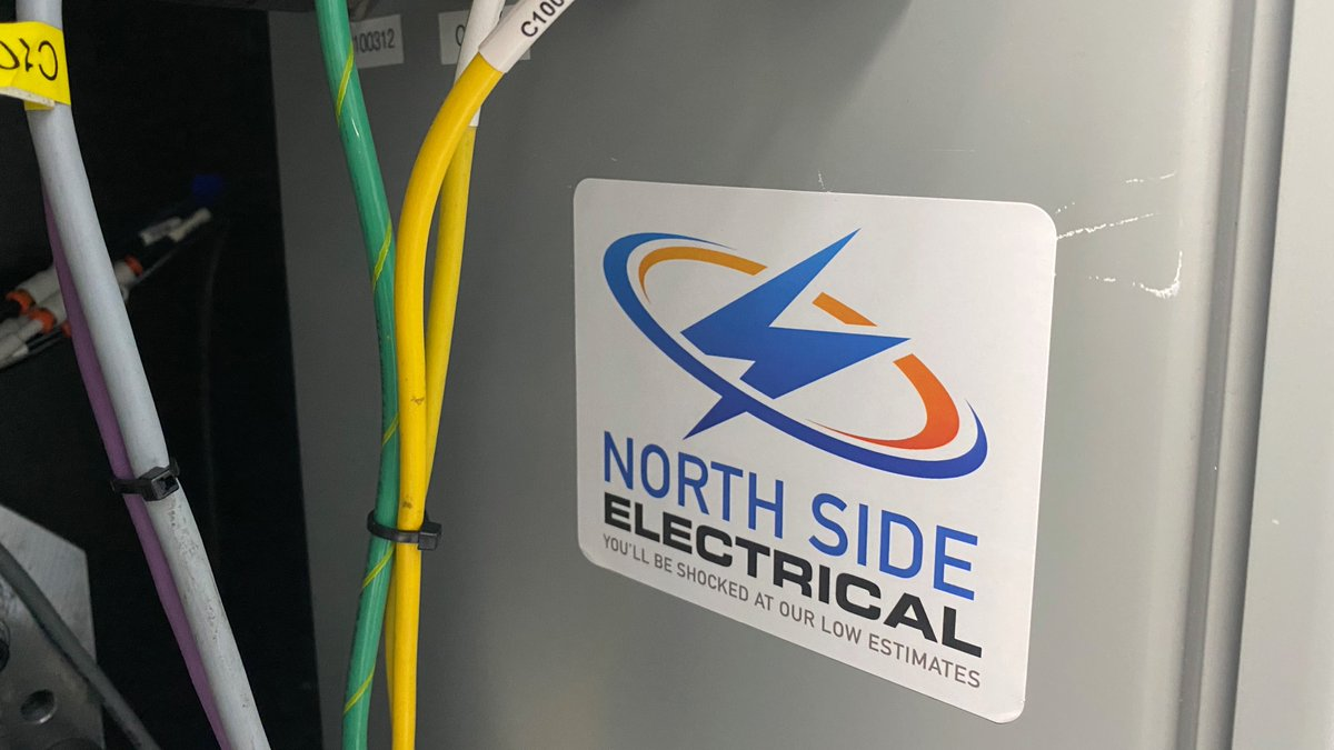 Electrifying label! #stickers #electrician #stickerbuzz #labels #lightning #work