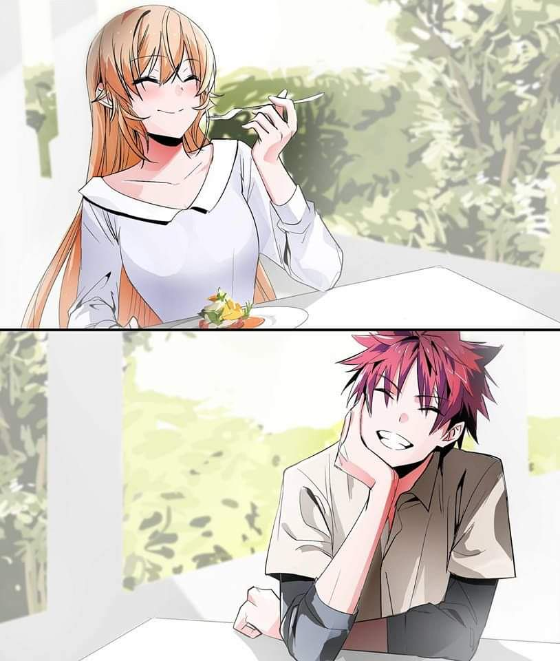 """Soma ... the trick to becoming a good cook is to meet a woman to whom you can completely dedicate your cooking.""  Anime: Food Wars! Shokugeki no Soma<br>http://pic.twitter.com/6gWXdHfDZj"