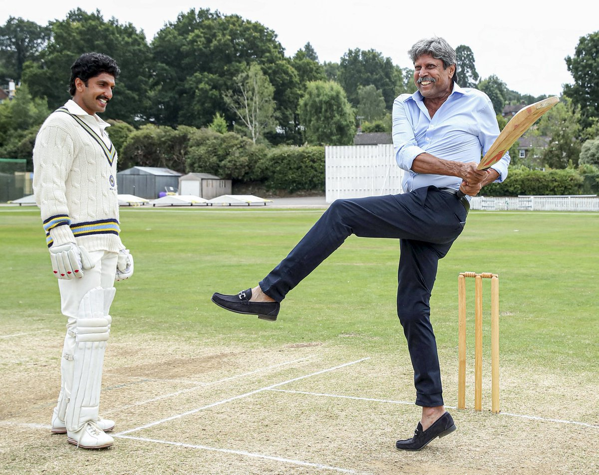 """Ambition can Beat Genius! India defeated West-Indies in 1983 because the fellow man had ambition to make their country proud!  Bolo """"Bharat Maata ki Jai!""""  #ThisIs83 #83thefilm #KapilDev #RanveerSingh<br>http://pic.twitter.com/5LhfCvFhOK"""