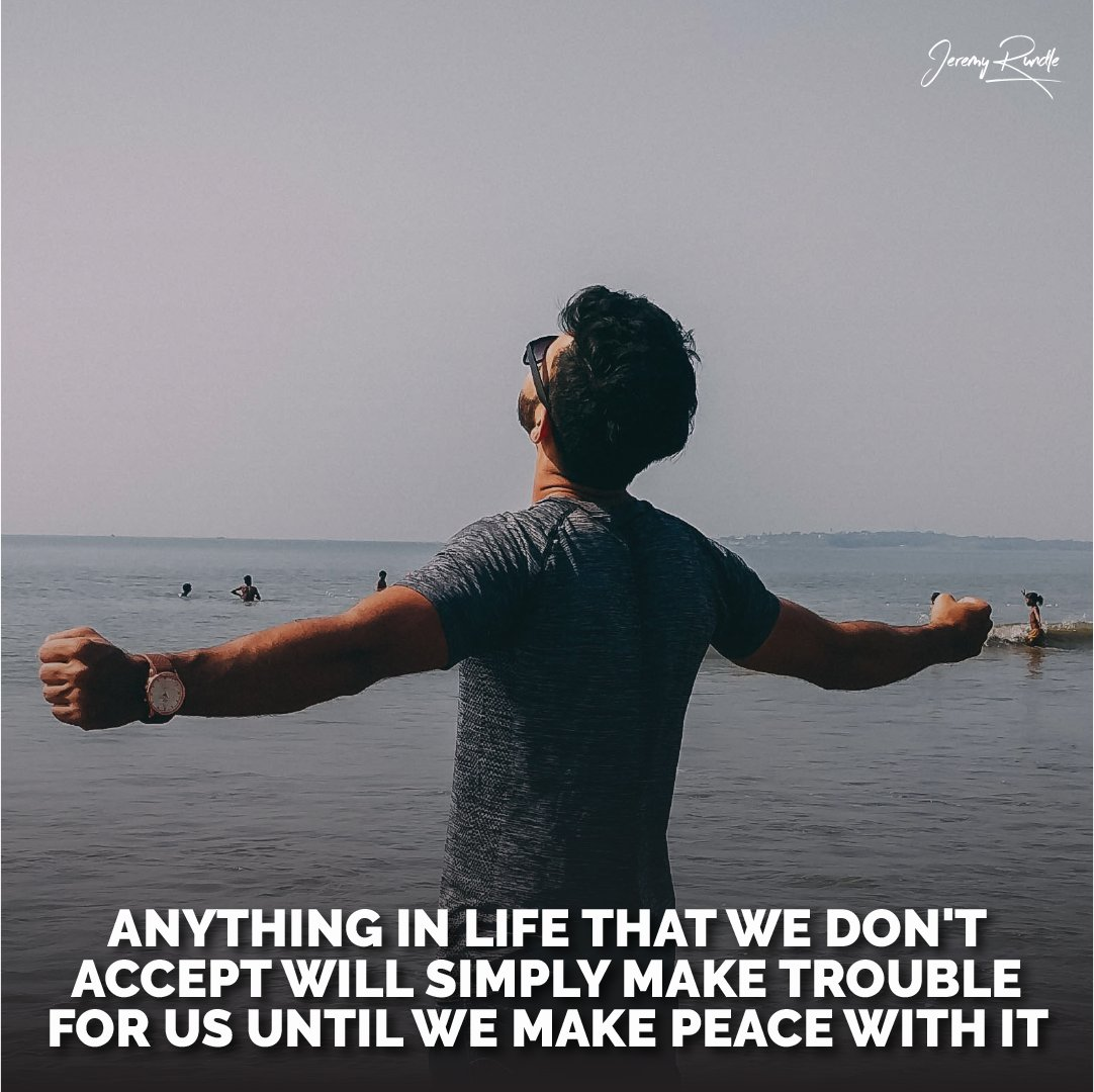 You need to make peace with the things you receive as opportunities in life. Otherwise, sticking to it, after rejecting it, will cause you nothing but trouble and will hold you back from what you can become.  #motivation #successpeaks #struggletoachieve #success #believer #work