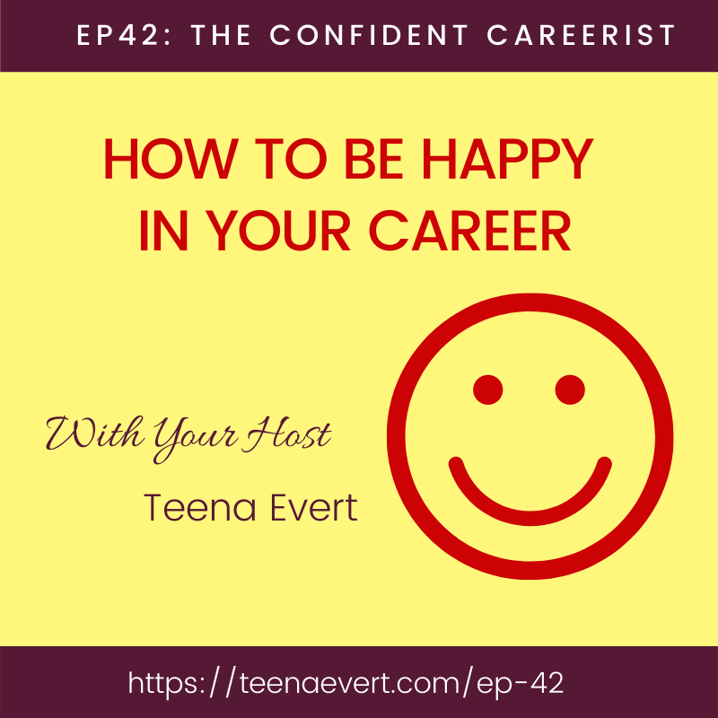 🎧Episode 42: HOW TO BE HAPPY 😃IN YOUR CAREER  More than 50% of people are miserable in their jobs. How can you find a deeper purpose and meaning in your work?  ► Listen to find out   #careers, #strengths, #happiness, #work, #lifepurpose,  #confidence