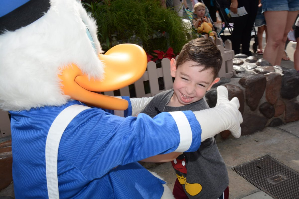 No words needed. The look on 3-year-old William's face says it all on his wish to go to Disney while battling neuromuscular disorder. #WishWednesday #Joy #Happy