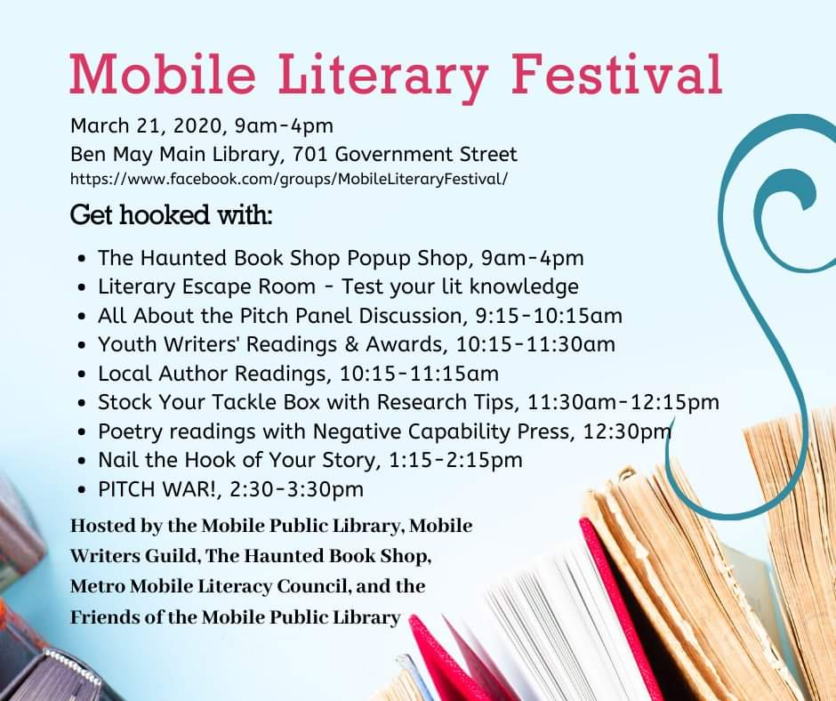 Mark your calendars. It's going to be the best one yet and it's FREE!  #SoMobile #MobileAL #mobilealabama #MobLitFestpic.twitter.com/Cjn0LjF6Wy