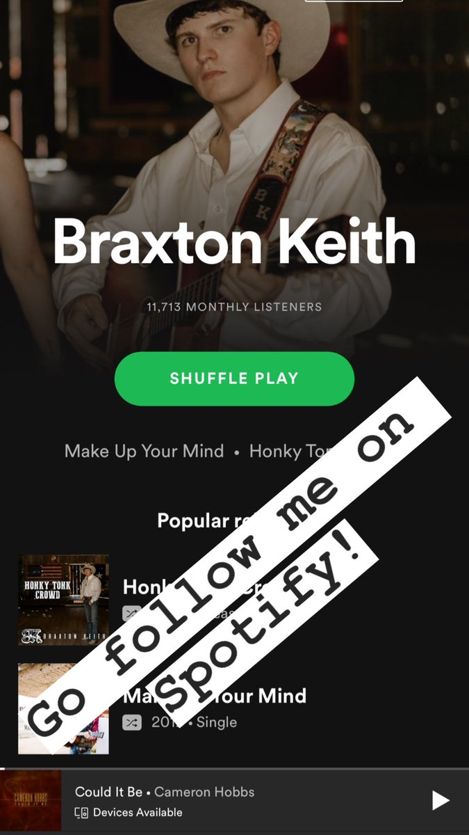 Y'all go follow me on Spotify!  Spotify -   #braxtonkeith #country #upcomingartist #model #explorepage #newmusic #music #singer #studiolife #jealous #spotify #texas #texascountry