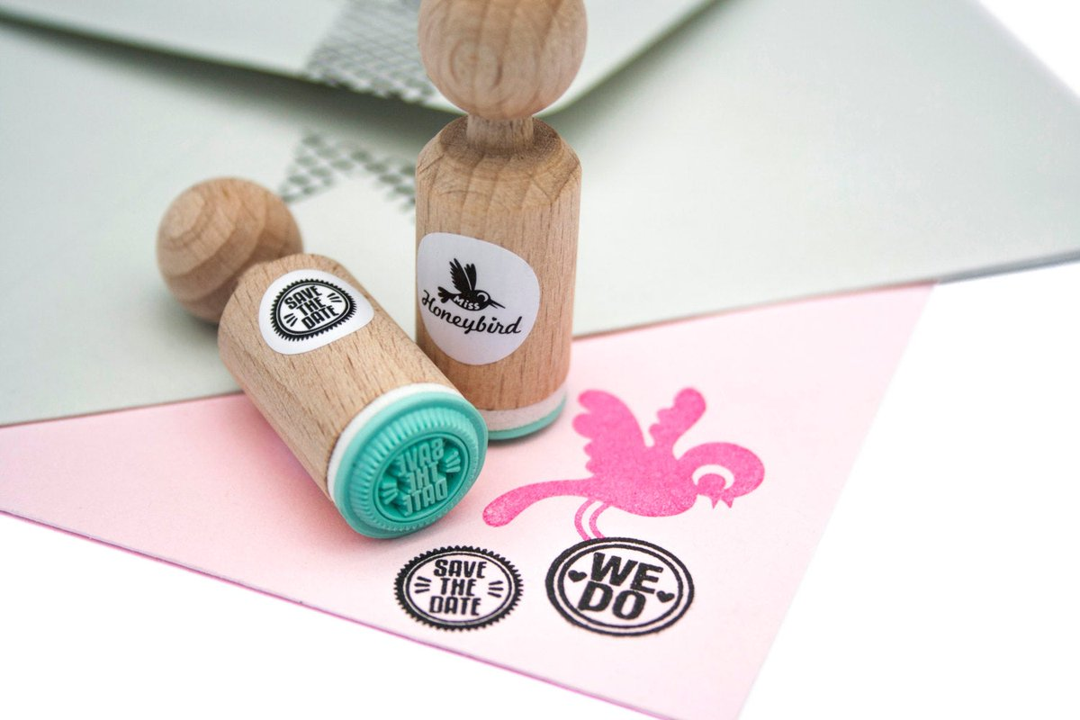"""Thanks for the kind words! ★★★★★ """"The perfect mini stamp for our Save the Dates! Excellent quality and friendly service. Shipped fast."""" AmberLynn R.  #etsy #supplies #cardmakingstationery #sayingphrase #wedding #stamp #stamping #ministamp #fabric"""