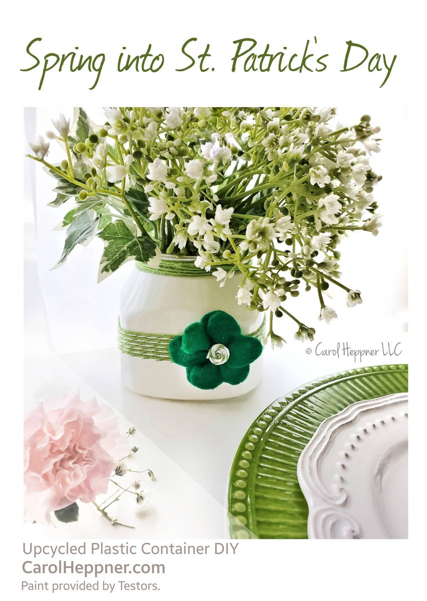 Spring to it with this easy #DIY project and @TestorsTweets #CRAFT #Wedding White gloss Aerosol  🍀 Get the #free instructions  #ad #stpatsday #stpatricksday #wednesdayMotivation #homedecor