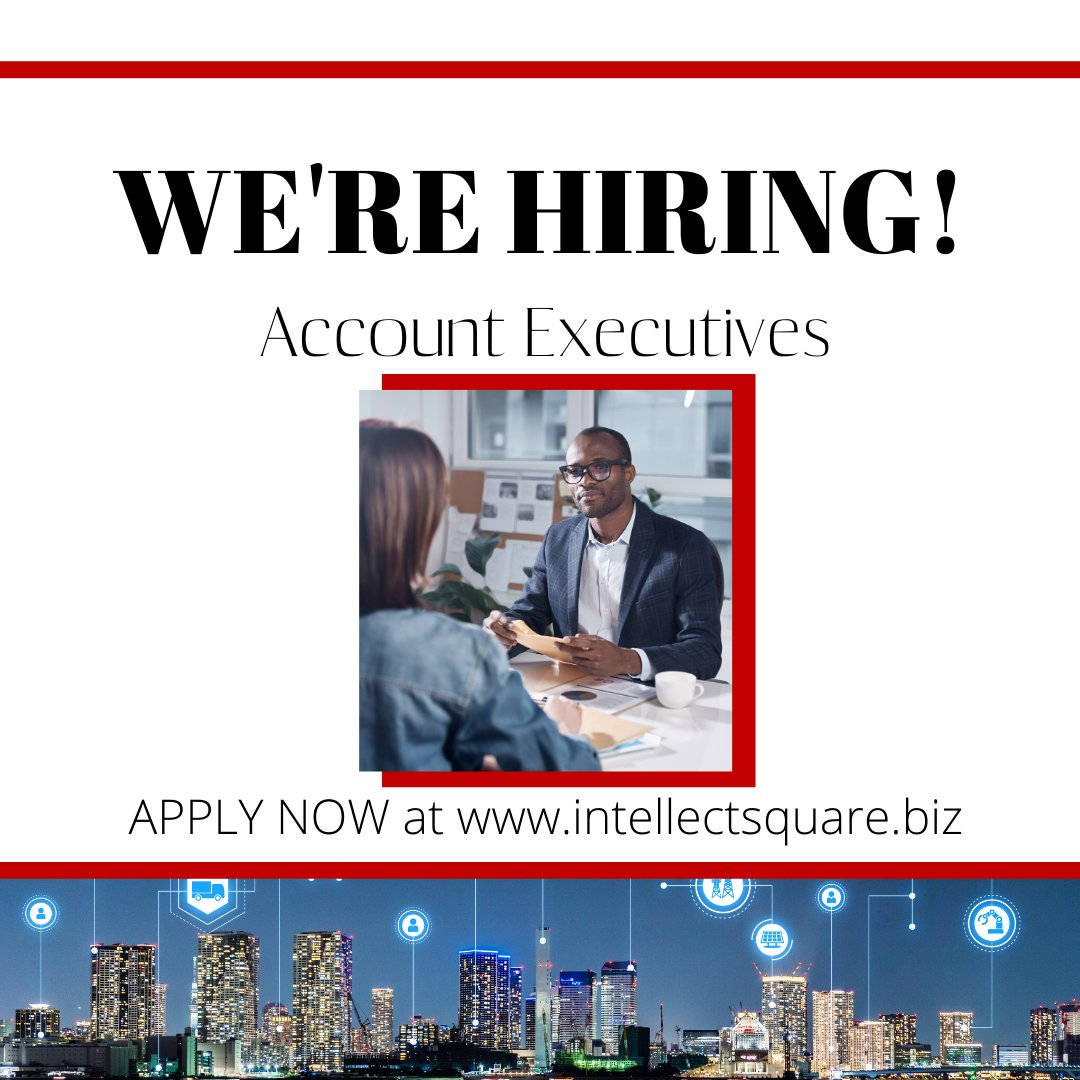Looking for a new career path?! 🧐  Intellect Square is NOW HIRING Account Executives! We offer the BEST training our industry offers and will train you from the bottom up!  Apply NOW at  and join Youngstown, OH fastest growing Marketing firm.  #work