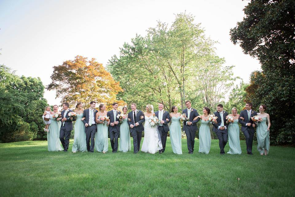 If you have yet to choose a song 🎶 for your bridal party to walk down the aisle to, consider Canon in D by Pachelbel!  We have tons of inspiration for your #wedding music 🎵:   #bridalparty #bridesmaids #groomsmen #djbrock #wed  📷: