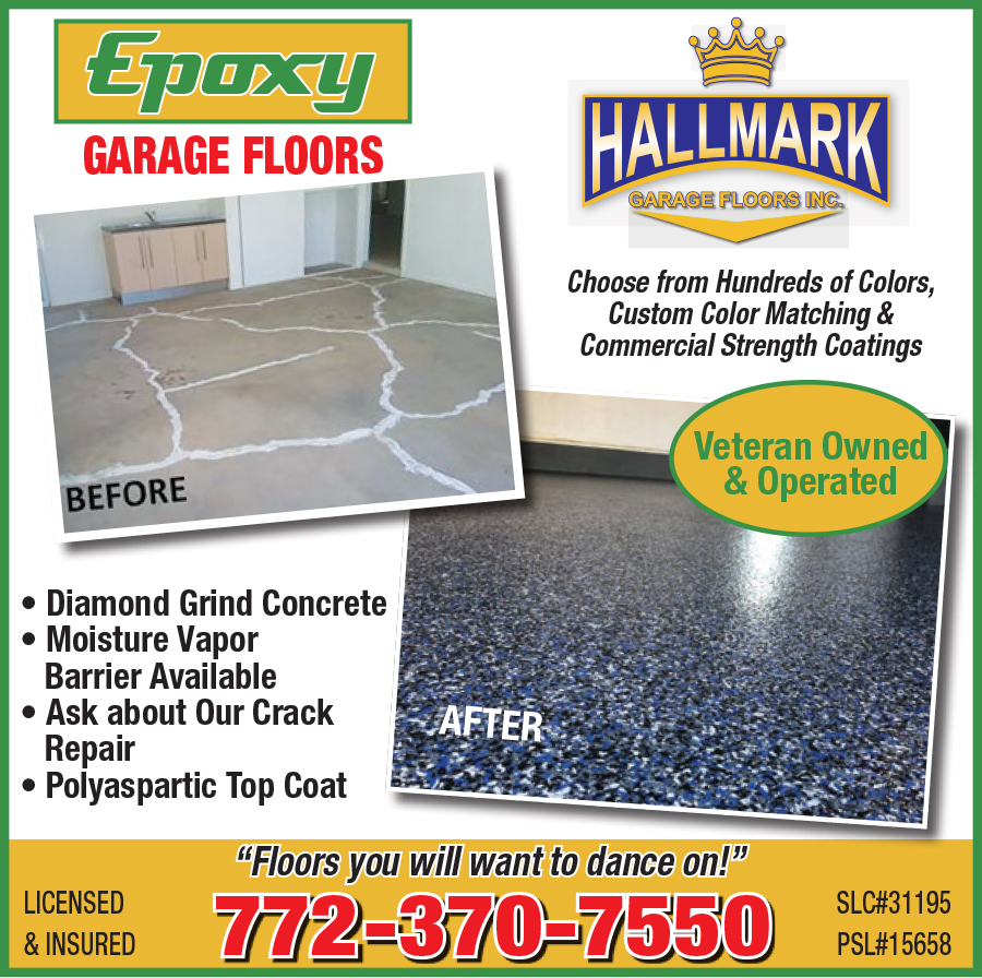 Upgrade your garage with floors you'll want to dance on! Choose from hundreds of options at Hallmark Garage Floors #MyLivingMagazines #HallmarkGarageFloors #GarageFloors  #Epoxy #CrackRepair #CustomColorMatching #VeteranOwnedBusiness #ShopLocal #BuyLocal #UpgradeYourHomepic.twitter.com/ZL3nsd5RXy
