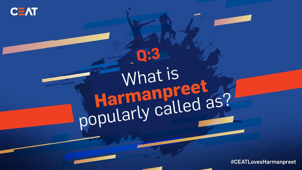 QUESTION 3️⃣ ALERT!⚠️ Those who get both the names right, stand a chance closer to win an autographed bat from @ImHarmanpreet! #RT and participate in the contest now! #CEATLovesHarmanpreet 💙 #ContestAlert
