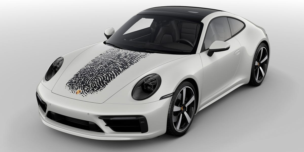 Porsche will put its customers' giant fingerprints on the hoods of their brand-new 911 sports cars for $8,000 — here's how it works  #work