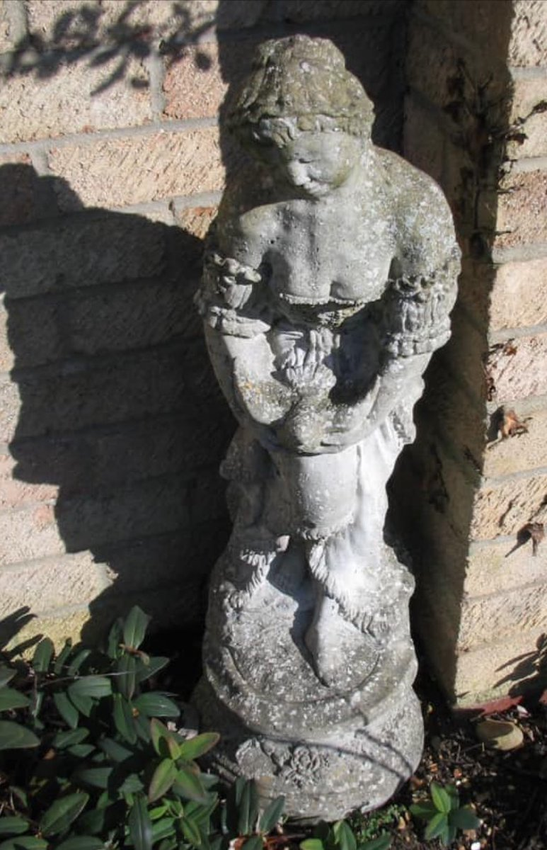 Please help & keep your eyes peeled. A friend of mine is  very distressed indeed. She lives in the #Cambridge area, Willingham, and has had this garden statue stolen which belonged to her late mother. Hugh sentimental value. Look out for it at car boots etc.  Please retweet. pic.twitter.com/sP5g00wS5b