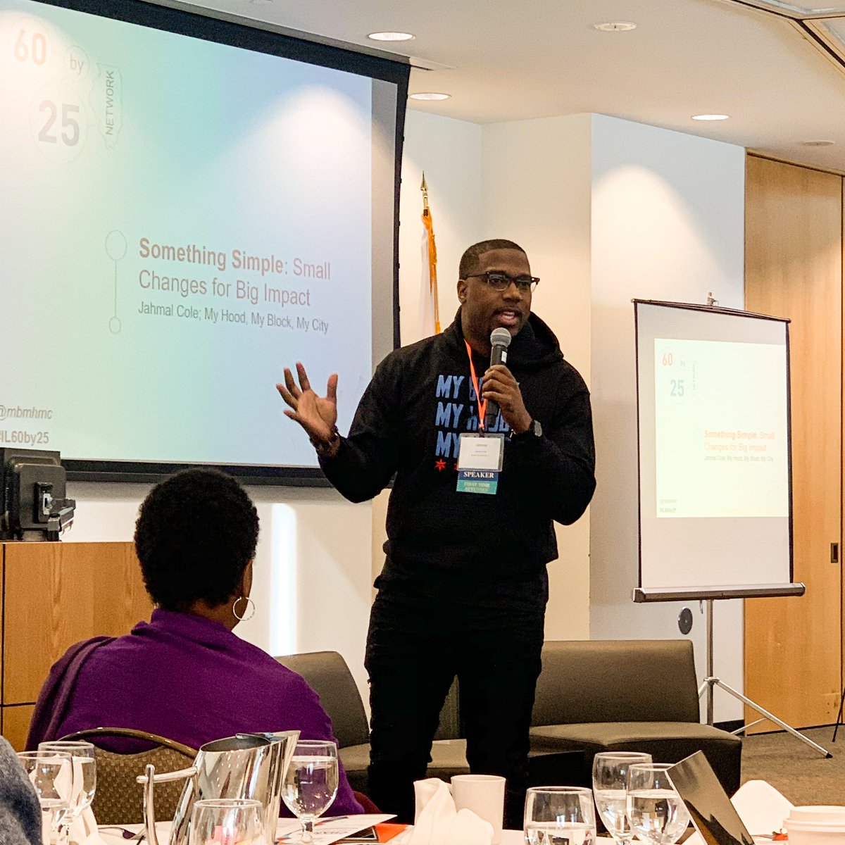 """Today's challenge comes from @mbmhmc """"What's something simple I can do to make a positive impact on my block?""""  Thank you @JahmalCole for calling out the necessity of on the ground work for equity and change in Chicago.   #IL60by25 #theISTI #STEMeducation pic.twitter.com/4yxxvbBtei"""