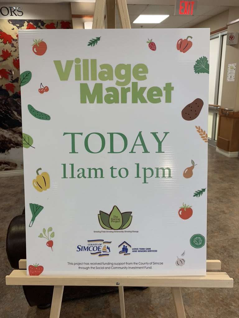 The #KarmaProject is putting the finishing touches on the #VillageMarket at #georgianvillage in #penetanguishene! #market #freshfruit #freshvegetables #fruits #veggies #community #HealthyEating #shoplocal @MidlandON #seniors  #closetohome @1041TheDock @MidlandToday @MidlandMirrorpic.twitter.com/aIlSqE6GG1
