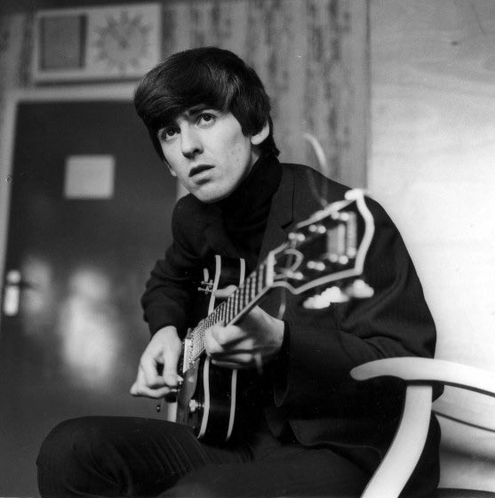 Happy birthday to the biggest baby of them all George Harrison he would ve been 77 today