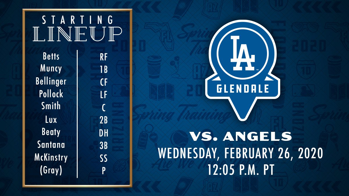 Today's #DodgersST lineup vs. Angels: