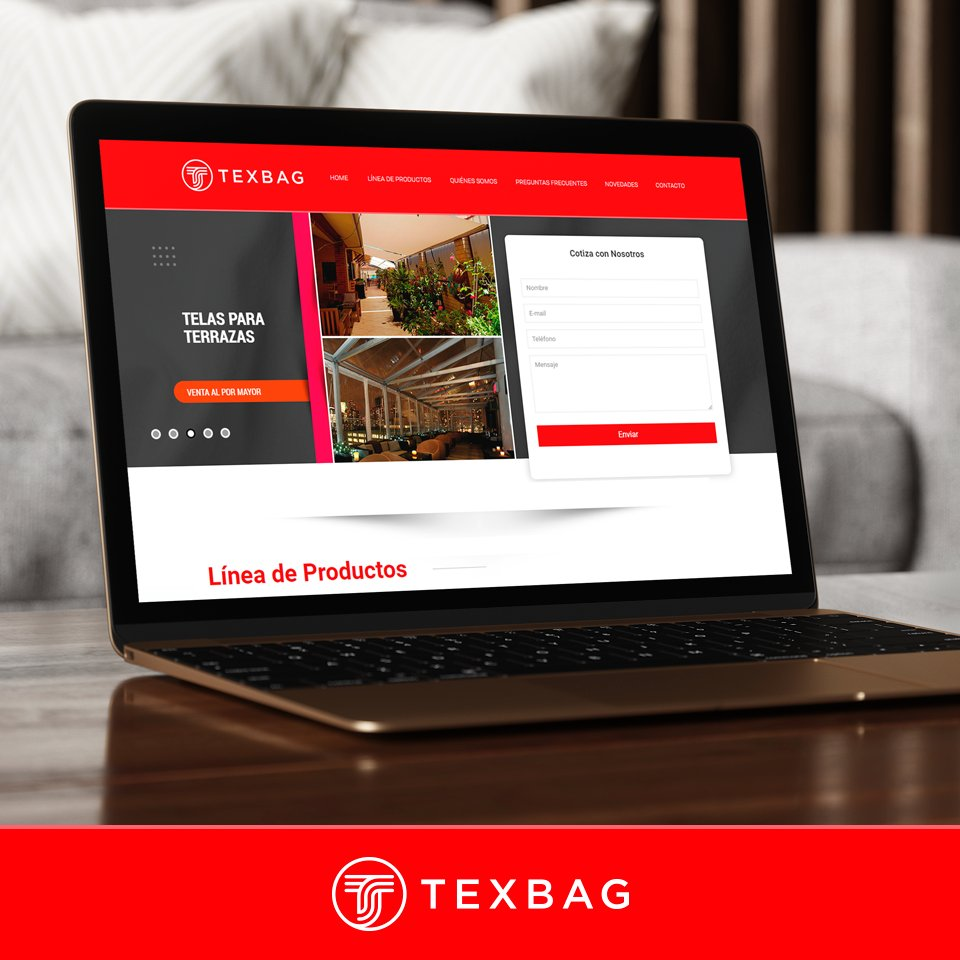 Conoce nuestro sitio web y entérate de todas nuestras novedades.  Revisa nuestro catálogo de productos en      #Texbag #telas #insumos #toldos #terraza #telasindustriales #telaspormayor #bolsosdelivery