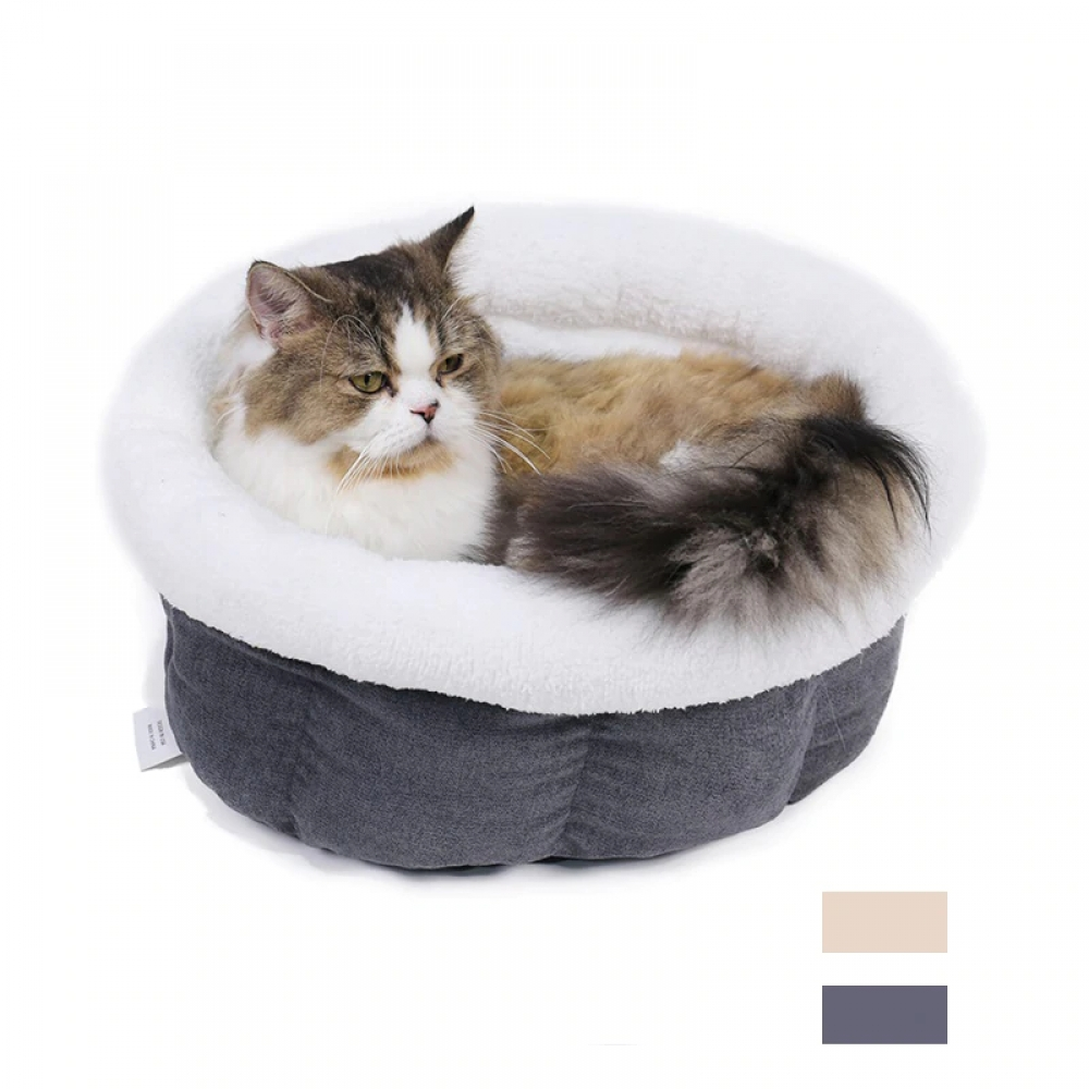 #cat #animals Round Shaped Soft Sleeping Bed for Cats