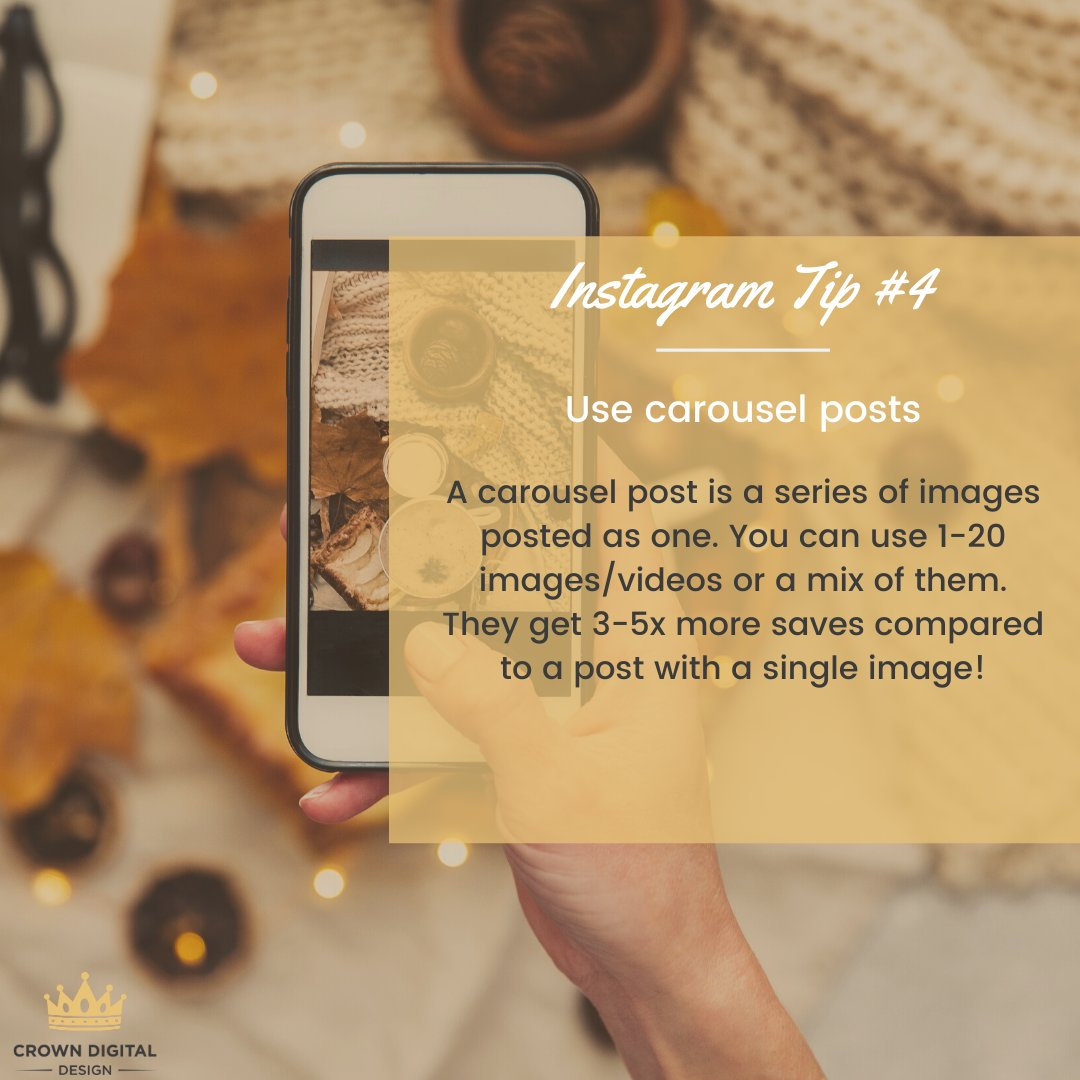 Use Instagram Carousel Posts to tell the timeline of a story, progress of a product, an event coming together, to explain how it really happened, rather than one quick post.  #instagram #instagramtips #socialmedia #socialmediamarketing #smm #businesstips #marketingpic.twitter.com/2YmGOChdpE