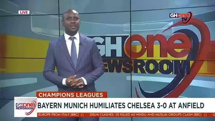 aah GhOne paa   I'm sure the producer or presenter is a Chelsea fan <br>http://pic.twitter.com/lhoVAqY4IV