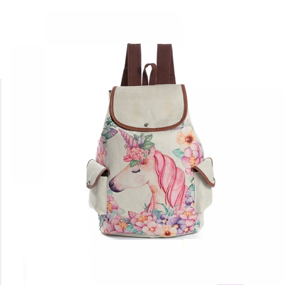 Kawaii Cartoon Unicorn Printed Backpack #japanese #sweet