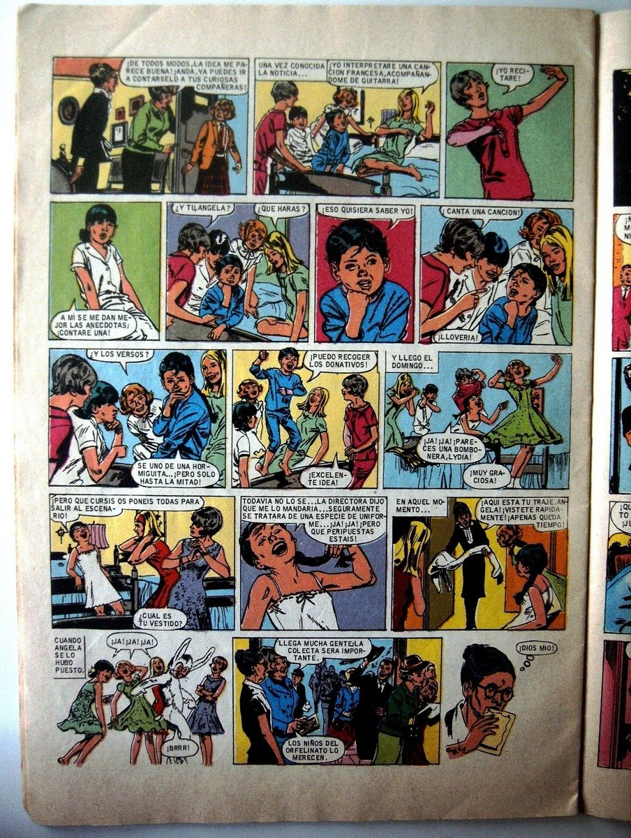 """""""-¿Y tú, Ángela? -¿Qué harás? -¡Puedo recoger los donativos! -¡Excelente idea!"""" #CristinaYSusAmigas (""""¡Detectives!"""") #EditorialBruguera #JoyasLiterariasJuveniles (Serie Azul) #vintagecomics #AntonioTurnesArdanuy #ManuelCuyàs #tebeos #girls #illustrations #chicas #oldcomics"""