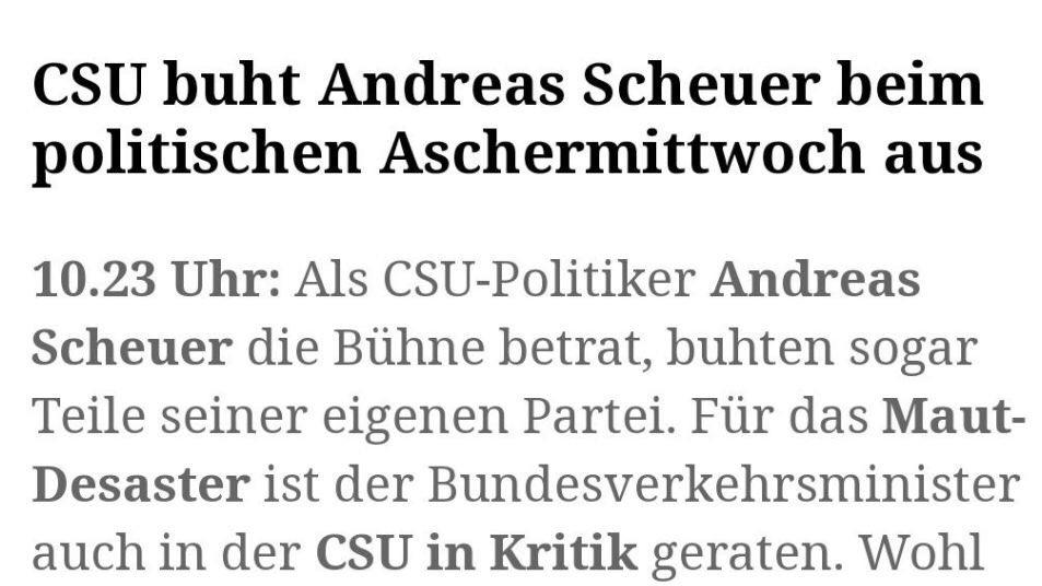 Das Bierzelt spricht @AndiScheuer das vollste Vertrauen aus. Wann zieht Merkel nach?  #CSUAM20pic.twitter.com/UXr1rxjgo6