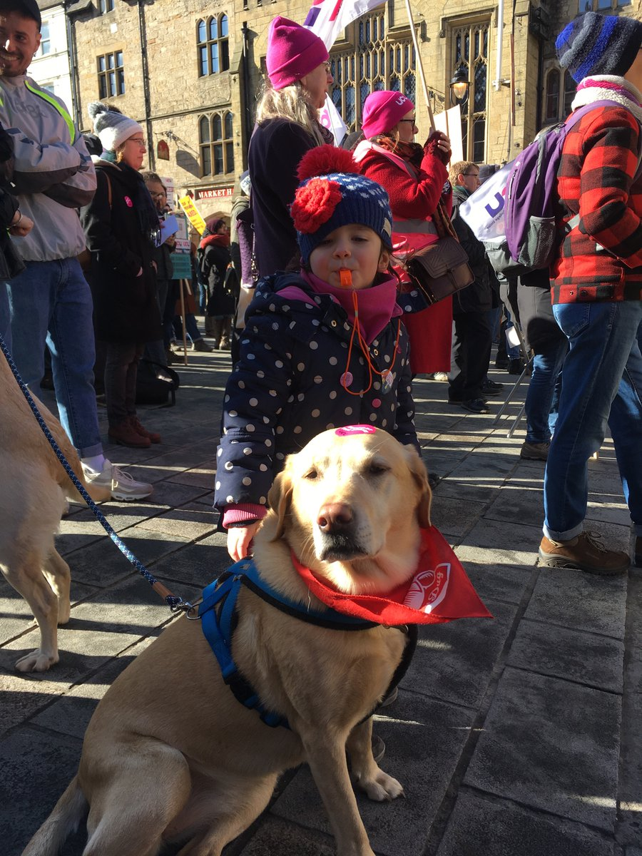 UCU rally at Durham-rousing speeches & fab noisy turnout (helped by giving a four year old a whistle 🤦🏻‍♀️) #UCUStrikesBack #sociologystrikesback #strikedog #strikekid @ucu @ucuatdurham
