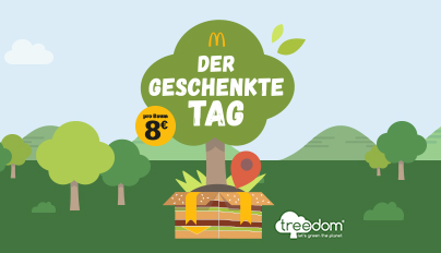 McDonald's Deutschland verschenkt Werbezeit für den Klimaschutz #schaltjahr #dergeschenktetag   http://mcdonalds.de/pressepic.twitter.com/L3XM8DO1Yr