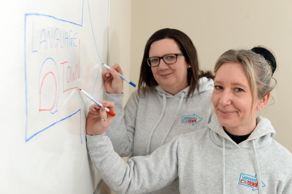 test Twitter Media - We're loving this image of the two fabulous entrepreneurs behind #Suffolk #business @LanguageTownIps. Do check them out if you're after language tuition. #PR #education https://t.co/1wImsIwu2N