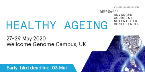 Less than 1 week to register for early bird discount for #HealthyAgeing20 (closes 03 Mar)| This meeting will bring together scientists, clinicians, & drug developers involved #ageingresearch | TOPICS: The ageing #brain; immortality; Cellular #homeostasis| http://bit.ly/2LRvRTP pic.twitter.com/R2gfSz3vTB