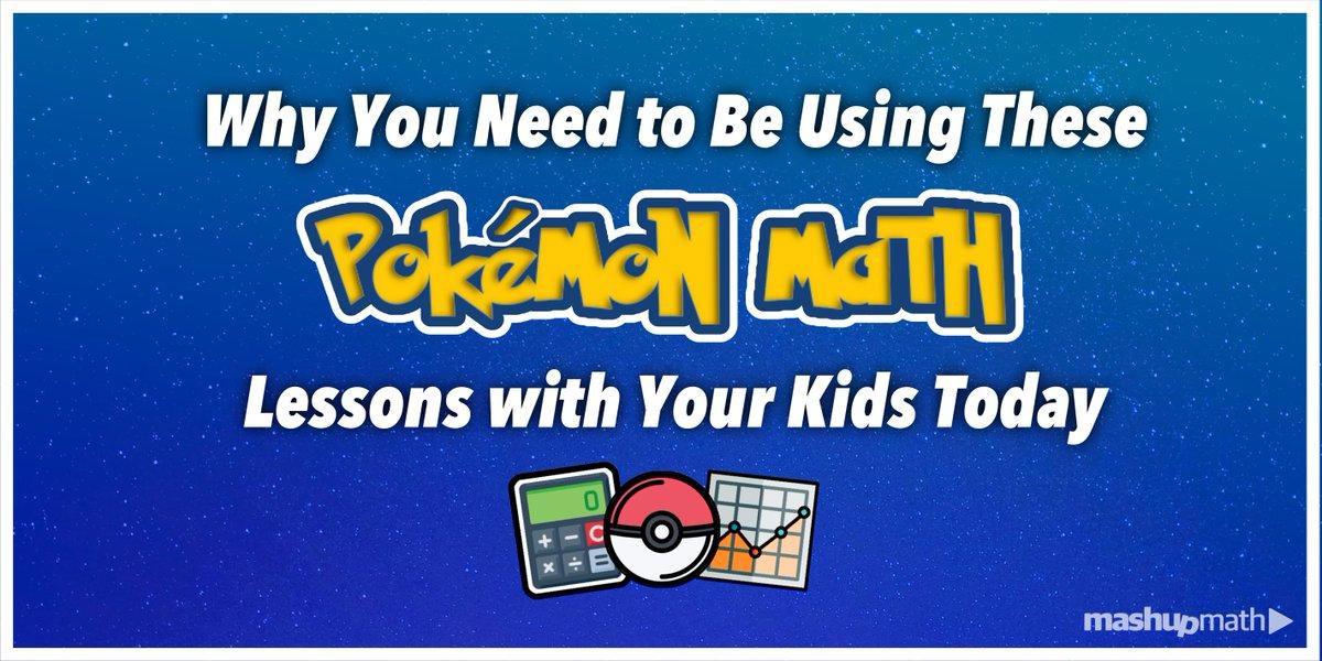 How can you teach math using #Pokemon? bit.ly/2msTWn8 #ElemMathChat
